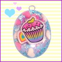 Resin Cupcake Pendant by bapity88