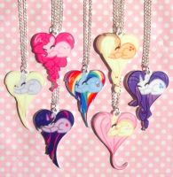 My Little Pony Friendship is Magic necklaces by KawaiiKave