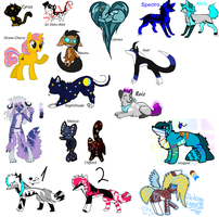 ( Cheap ) Huge Adoptable Batch by IAmtheCheese-Lovve