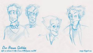 BTTF Game Style Sketches by AronDraws