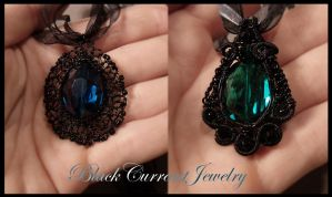 Black Wire Again by blackcurrantjewelry
