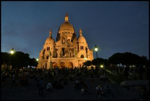 Paris - 11 - Sacre Coeur Night by etr-wroclove