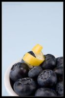 Blueberries and Lemon twist by AlexCphoto