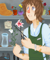 safe in the greenhouse by Wistful-Zombie