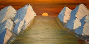 mountain acrylic painting by mental762308