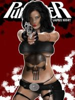 Lady Punisher Fan Art Cover by mrmanders