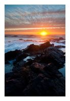 Oregon Coast Sunset by ShamelessRain