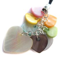 Shell heart phone charm by fairy-cakes