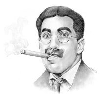 Groucho Marx portrayed by Frank Ferrante by gregchapin