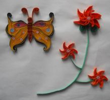 Quilling - Butterfly by Sszymon14