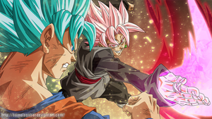 DragonBall Super - BlackGokuSSJRose vs GokuSSJBlue by HomolaGabor