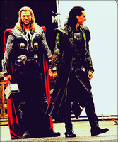 On set. Thorki by CharlotteGray
