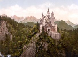 Neuschwanstein Castle by RubiksMaster110
