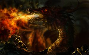 Smaug the dragon by Arkarti