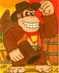 Cowboys and Mushrooms: Donkey Kong by Villaman89