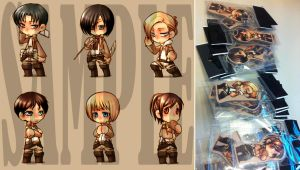 Shingeki no Kyojin - attack on titan keychain set1 by pandabaka