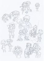Total Drama Kids Comic sketch by Kikaigaku