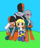 Wilson family in Teen Titans GO! style by kezzDaddy