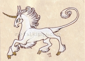 Heraldic Unicorn ACEO by thedancingemu