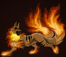 Fire Wolf by SabarielLocien
