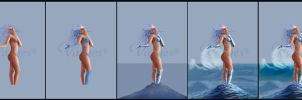 The 4 Elements - Water - WIPs by Varges