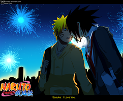 SasuNaru :Over the fireworks: by Ranniiee