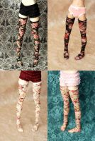 Floral Stockings by kawaiimon