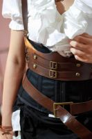 DIY fake leather harness and belt by MoonchildLuiza