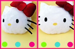 Hello Kitty Plushie by Horror-Scarred