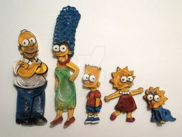 Paper Quilling - The Simpsons by wholedwarf