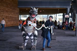 Chris and the Dinosaur FANEX 2014 by Hxes