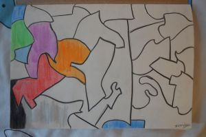 Abstract drawing by tangeloskye