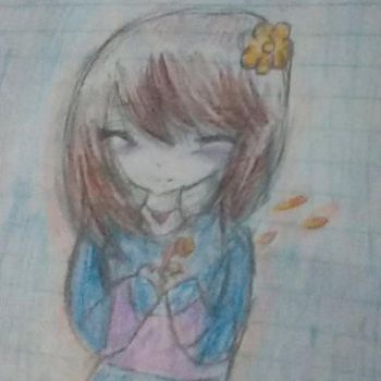Frisk drawing c: by CupcakesnCringes