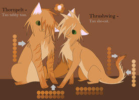 Thrushwing and Thornpelt Ref by SkyclanDensetsu