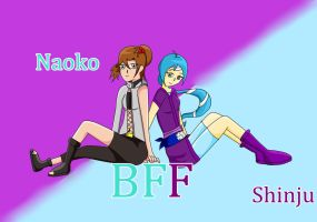 :.Naoko and Shinju.: BFF by AdrixCosta