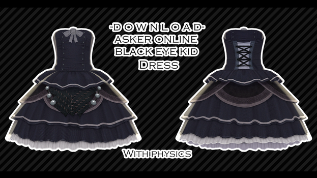 Asker Online - Black Eye Kid's Dress by XxXSickHeartKunXxX