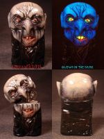 Nosferatu Slim Zippo by Undead Ed Glows in the Dar by Undead-Art