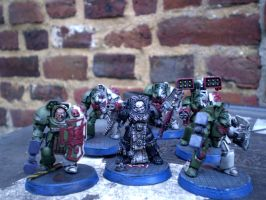 Interogator Chaplain leading a Terminator squad by Punk-Noir