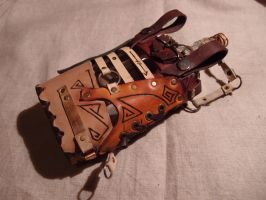 A steampunk-abstract flask - rear view by ChanceZero