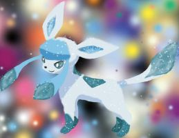 Sparkly Trippy Glaceon by Sangheilianima