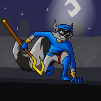 Sly cooper speed draw (With youtube link!) by FungalZombieX