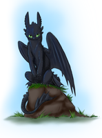 Tiny Toothless Warmup by JinxedbutLucky