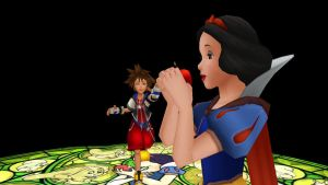 MMD Do not eat the apple by MrMario31095