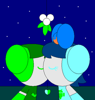 A Willy and Fox A.'s X-mas mistletoe kiss by claudinei230