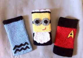 Crochet cellphone cases :D by AmiAmaLilium
