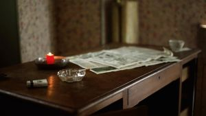 GIF - Cigarette, candle and newspaper by turst67