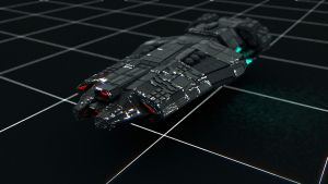 C4D spaceship with weathering texture by MaximilianYuen