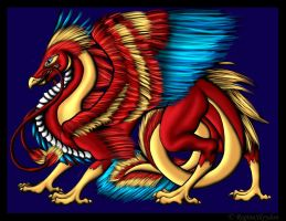 COLOUR_Phoenix Dragon 2nd by SweetAmberkins