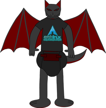 Me in an Arch Linux T-Shirt by thepouar