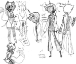 Adventure Time Sketchdump 3- Cake and Mochro by spock-sickle